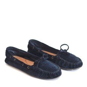 LUCKY BRAND || dark blue moccasins